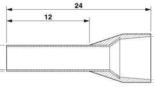 AL16-12BU TERMINAL PIN 16 MM2