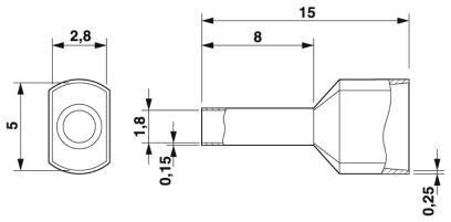 AI-TWIN 2X0.75 – 8 GY TERMINAL TWIN PLO