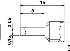 AI-TWIN 2X 1-8 RD;TERM. DE PUNTA 2 COND