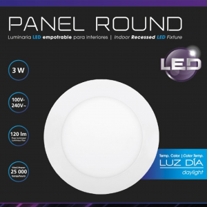 LED PANEL RD 3W DL 100-240V
